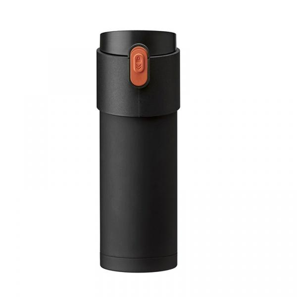 Kubek termiczny z zaparzaczem 350 ml PO: PAO czarno-pomarańczowy 02702