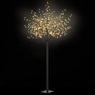 Kwitnące drzewko świąteczne, IP44, 250 cm, ciepłe białe LED