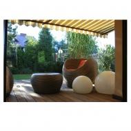 Lampa ogrodowa ogrodowa 400/m 40x32 cm Light Prestige Gaja biała