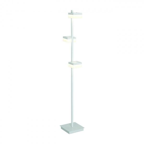 Lampa podłogowa 20x155cm Milago Cubo biało-szara 5902693731603
