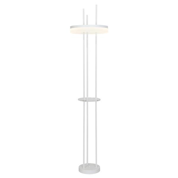 Lampa podłogowa 40x165cm Milagro Ring biało-srebrna 5902693731658