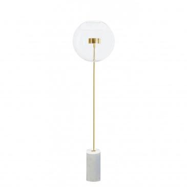 Lampa podłogowa CAPRI FLOOR złota - LED, aluminium, szkło, marmur