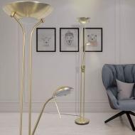 Lampa podłogowa przyciemniana LED 23 W złota
