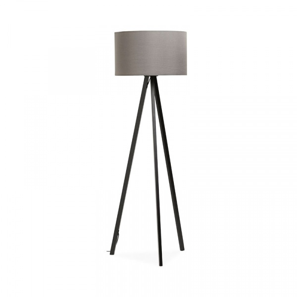 Lampa podłogowa Trivet Kokoon Design szary czarne nogi FL00340GRBL
