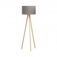 Lampa podłogowa Trivet Kokoon Design szary drewniane nogi