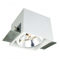Lampa podtynkowa 12,5x10 cm Light Prestige Corleto biała