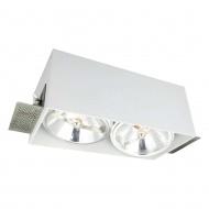 Lampa podtynkowa 24,5x12,5x10 cm Light Prestige Corleto biała
