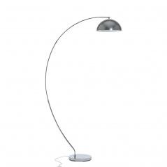 Lampa stojąca srebrna - podłogowa - oświetlenie - Marco