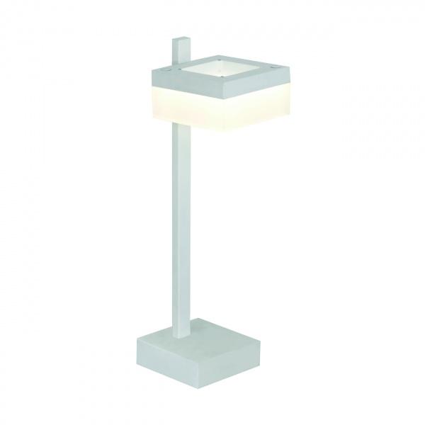 Lampa stołowa 12x40cm Milago Cubo biało-szara 5902693731597