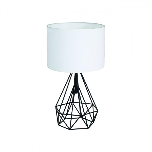 Lampa stołowa 32x55cm Milagro Triangolo czarno-biała 5902693731641