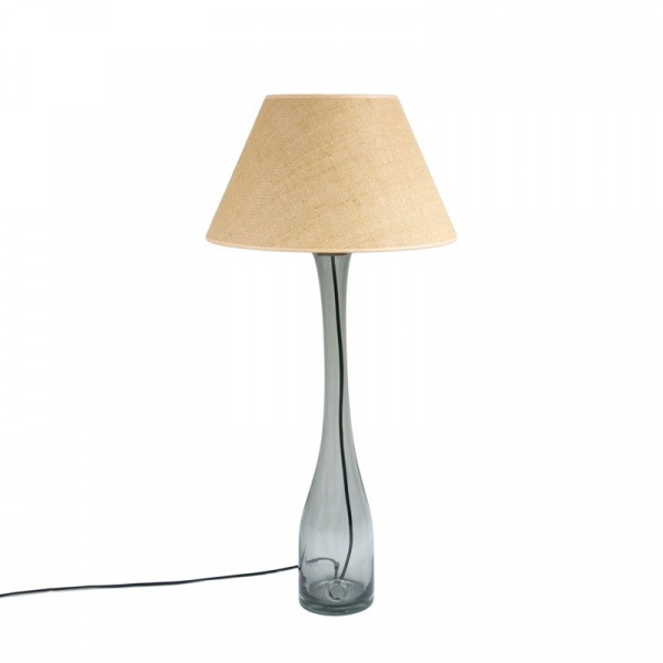 Lampa stołowa duża Gie El szary LGH0192