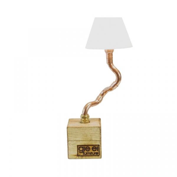 Lampa stołowa Gie El miedziana LGH0211