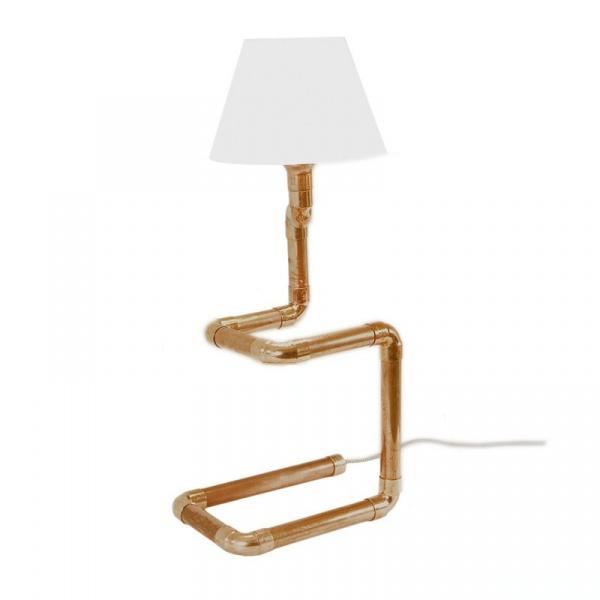 Lampa stołowa Gie El miedziana LGH0220
