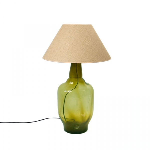 Lampa stołowa Gie El oliwkowy LGH0182
