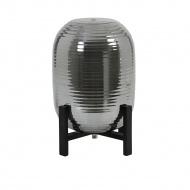 Lampa stołowa Nibali dymiona/czarne drew no