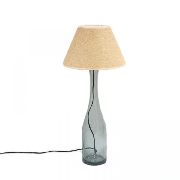 Lampa stołowa średnia Gie El szary LGH0191