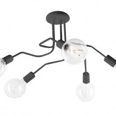 Lampa sufitowa 28x63cm Lampex Sebastiano 5 czarna