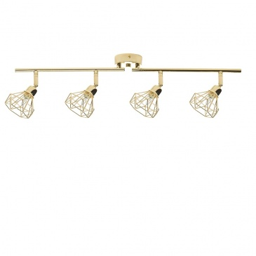 Lampa sufitowa 4-punktowa metalowa złota ERMA