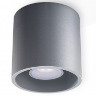 Lampa sufitowa natynkowa Orbis śr. 10 cm szara