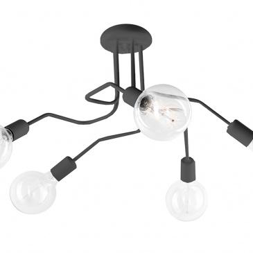 Lampa sufitowa Sebastiano 5 czarna