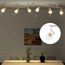 Lampa sufitowa z 6 żarówkami, srebrna, E14