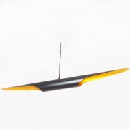 Lampa wisząca 100cm Step into design Black Tube czarno-złota