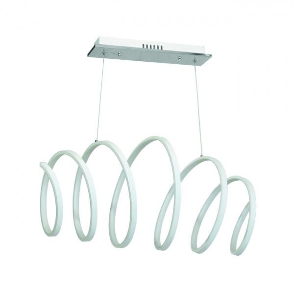 Lampa wisząca 100x118cm Milagro Twist biała 5902693732150