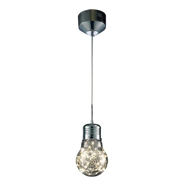 Lampa wisząca 100x15cm Milagro Bulb chrom 5902693731351