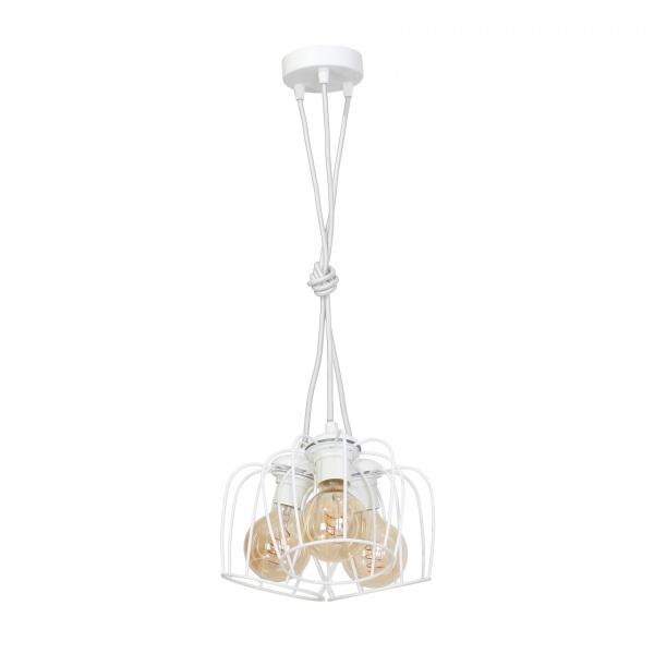 Lampa wisząca 100x35cm Milagro Vintage biała 5902693731191