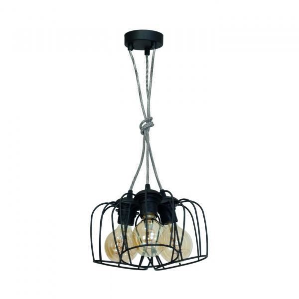 Lampa wisząca 100x35cm Milagro Vintage czarna 5902693731214