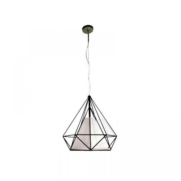 Lampa wisząca 100x45cm Milagro Triangolo czarno-biała 5907377243052