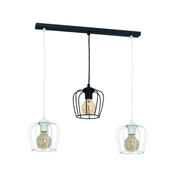 Lampa wisząca 100x65cm Milagro Vintage czarno-biała 5902693731320
