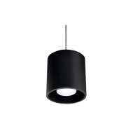 Lampa wisząca 10x10cm Sollux Lighting Orbis 1 Czarna