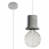 Lampa wisząca 11,5x11,5xmax.100cm Sollux Lighting Bono szara
