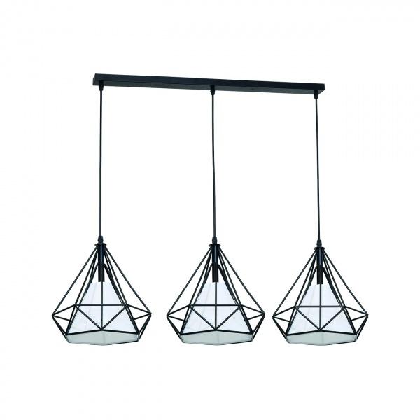 Lampa wisząca 120x80cm Milagro Triangolo czarno-biała 5902693731627