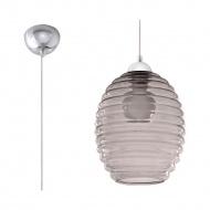 Lampa wisząca 21x21cm Sollux Lighting Alvaro grafit