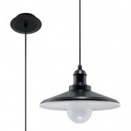 Lampa wisząca 25x25xmax.102cm Sollux Lighting Mare1 czarna