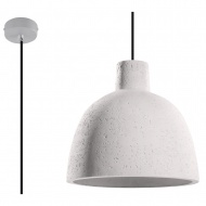 Lampa wisząca 28x28xmax.100cm Sollux Lighting Damaso biała