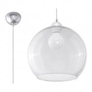 Lampa wisząca 30cm Sollux Lighting Ball przezroczysta