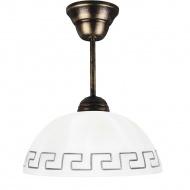 Lampa wisząca 30x22cm Lampex biała