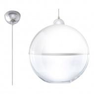 Lampa wisząca 30x30cm Sollux Lighting Gino biała