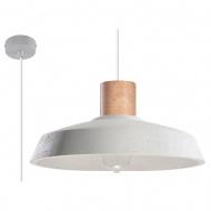 Lampa wisząca 40x40xmax.100cm Sollux Lighting Afra biała