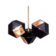 Lampa wisząca 45cm Step into design New Geometry-3 czarno-złota