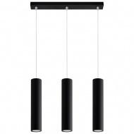 Lampa wisząca 45x6x85cm Sollux Lighting Lagos 3 czarna