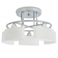 Lampa wisząca 5 żarówek E14 klosze w kształcie elipsy