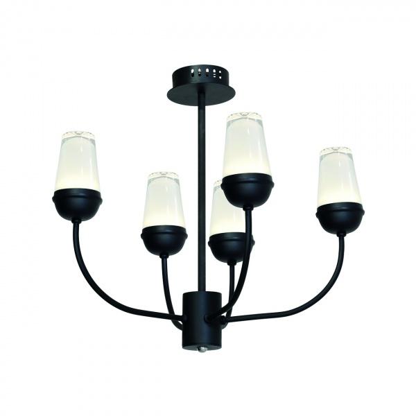 Lampa wisząca 50x52cm Milagro Luton czarna 5902693731986