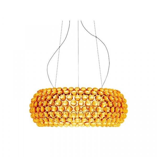 Lampa wisząca 65cm King Home Aria Amber bursztynowa 665S3.AMBER