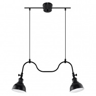 Lampa wisząca 65x65xmax.80cm Sollux Lighting Mare2 czarna