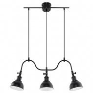 Lampa wisząca 65x65xmax.80cm Sollux Lighting Mare3 czarna