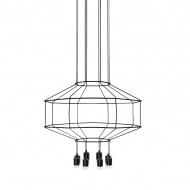 Lampa wisząca 80x150cm King Home Flusso czarno-srebrna